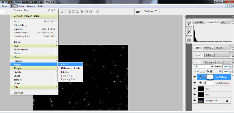 Create A Starry Night Sky In Photoshop 23