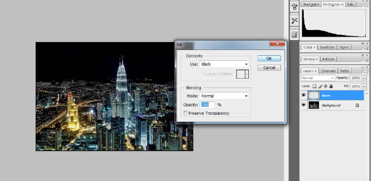 Create A Starry Night Sky In Photoshop 3