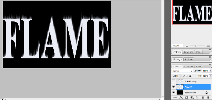 Flaming Hot Fire Text in Photoshop 10