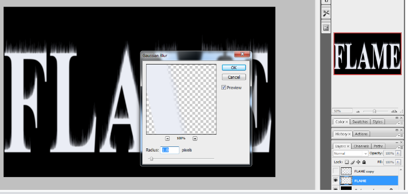 Flaming Hot Fire Text in Photoshop 11