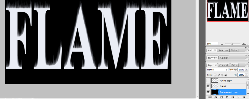 Flaming Hot Fire Text in Photoshop 12