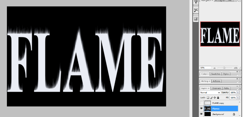 Flaming Hot Fire Text in Photoshop 14