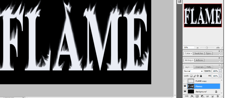 Flaming Hot Fire Text in Photoshop 15