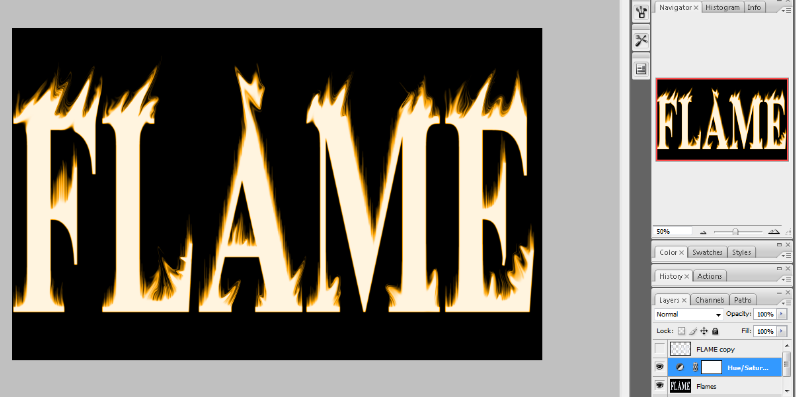 Flaming Hot Fire Text in Photoshop 16