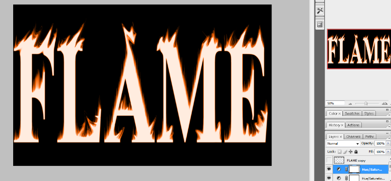 Flaming Hot Fire Text in Photoshop 17