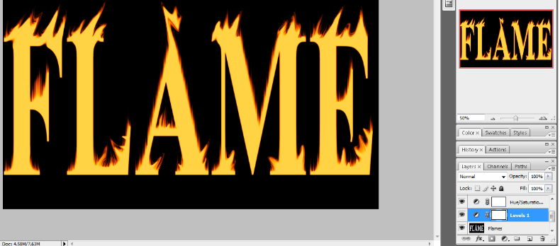 Flaming Hot Fire Text in Photoshop 19