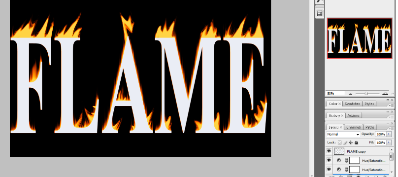Flaming Hot Fire Text in Photoshop 20