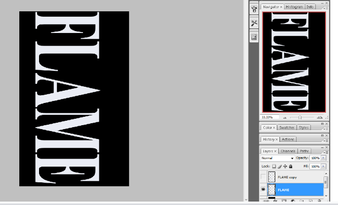 Flaming Hot Fire Text in Photoshop 7