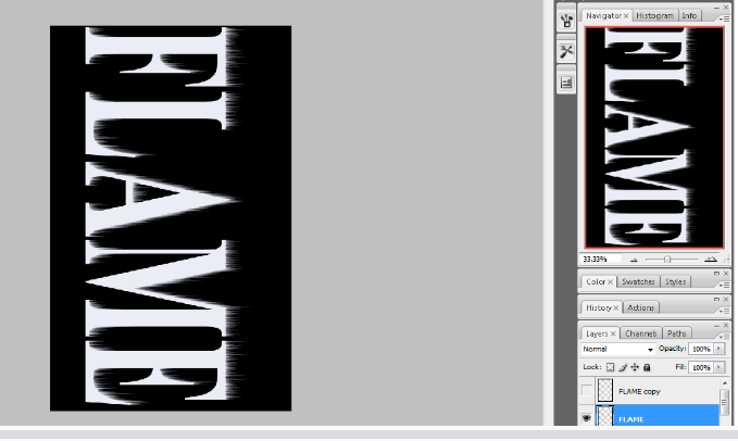 Flaming Hot Fire Text in Photoshop 9