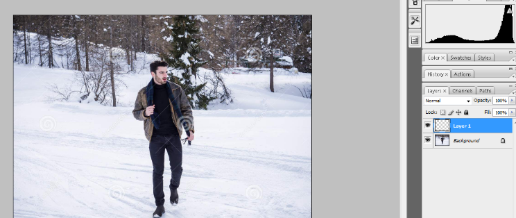 How to Add Falling Snow to Your Photos with Photoshop 1