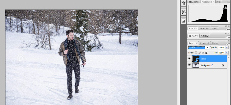 How to Add Falling Snow to Your Photos with Photoshop 12