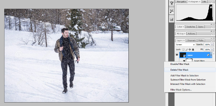 How to Add Falling Snow to Your Photos with Photoshop 14