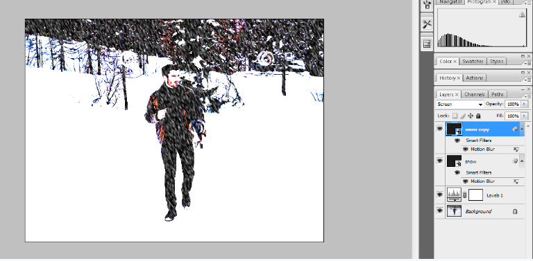 How to Add Falling Snow to Your Photos with Photoshop 16