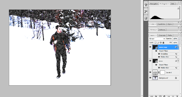 How to Add Falling Snow to Your Photos with Photoshop 19