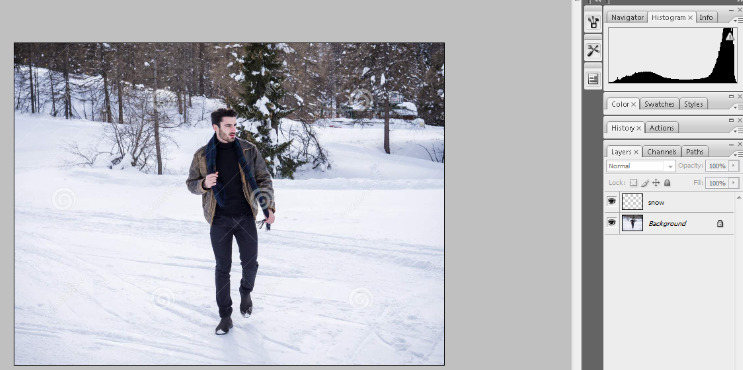 How to Add Falling Snow to Your Photos with Photoshop 2