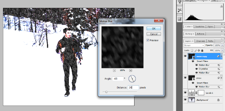 How to Add Falling Snow to Your Photos with Photoshop 20