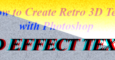 How to Create Retro 3D Text with Photoshop feature