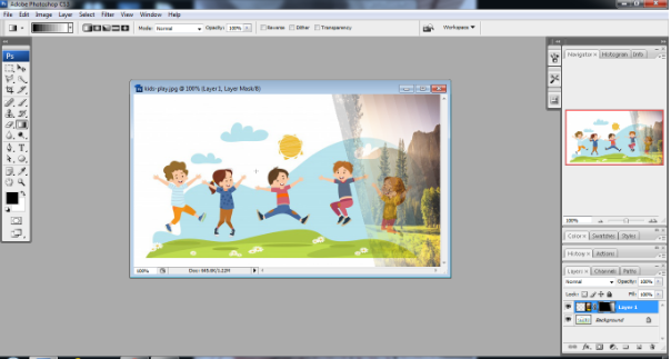 Layer mask in Photoshop in Hindi 9