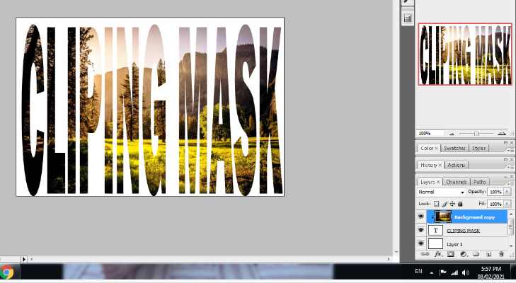 clipping mask in photoshop in hindi 9