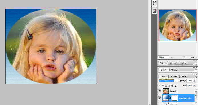 crop the circular image in photoshop 11