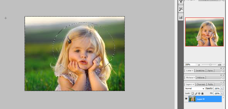 crop the circular image in photoshop 5