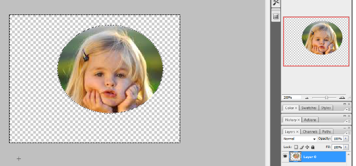 crop the circular image in photoshop 6