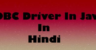 JDBC Driver In Java In Hindi