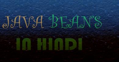 Java beans in hindi
