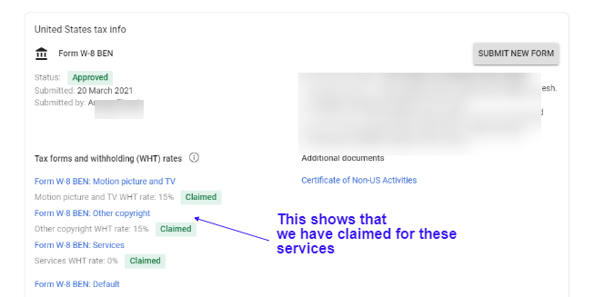 Submit Tax Information Form in Google Adsense for YouTube and Blog 19