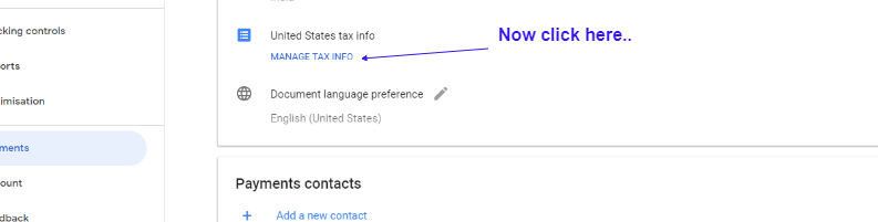 Submit Tax Information Form in Google Adsense for YouTube and Blog 4