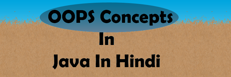 OOPS Concepts In Java In Hindi