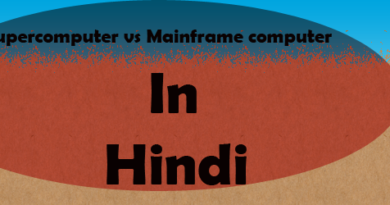 difference between supercomputer and mainframe computer in hindi