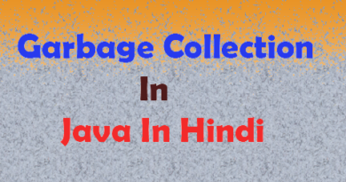 garbage collection in java in hindi