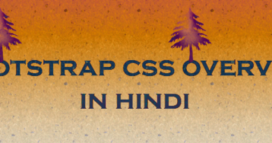 bootstrap css overview in hindi