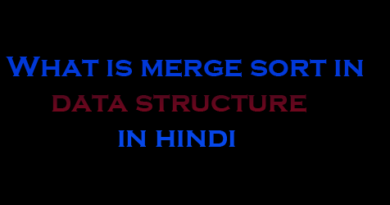 merge sort in data structure in hindi